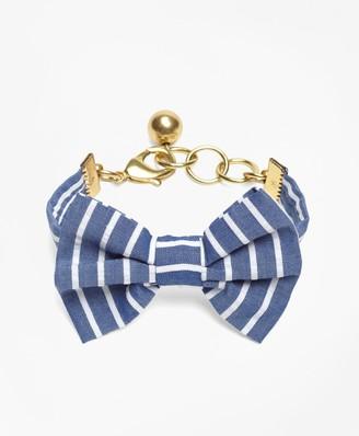 Brooks Brothers Kiel James Patrick Seersucker Stripe Bow Tie Bracelet