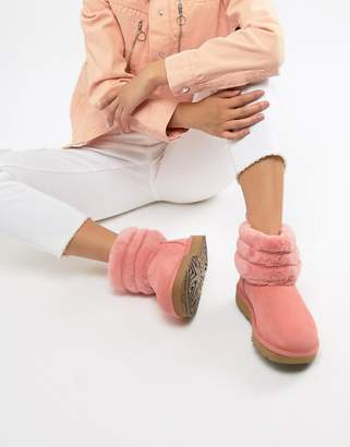 UGG Fluff Mini Quilted Boot in Pink