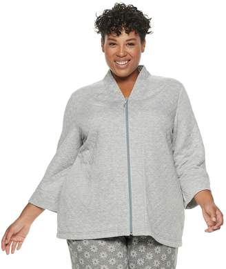 Croft & Barrow Plus Size Quilted Bed Jacket