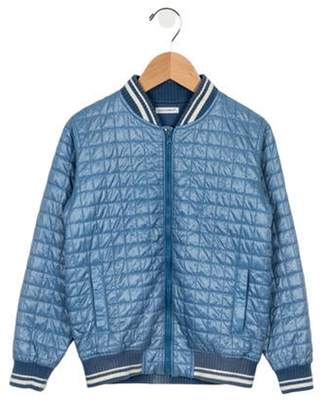 Dolce & Gabbana Boys' Quilted Bomber Jacket blue Boys' Quilted Bomber Jacket