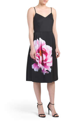 Sleeveless Floral Placement Dress