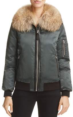 Mackage Rella Fur-Trim Down Bomber Jacket - 100% Exclusive $695 thestylecure.com