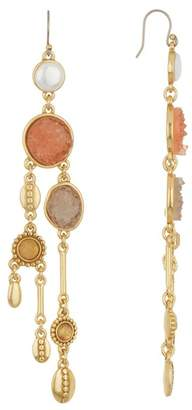 Lucky Brand Druzy & 9mm Pearl Chandelier Earrings
