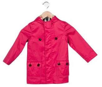 Burberry Girls' Hooded Raincoat