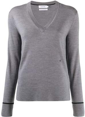 Calvin Klein V-neck slim-fit jumper