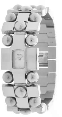 Misaki Women's Quartz Watch with Black Dial Analogue Display Quartz Stainless Steel QCRWCHESS