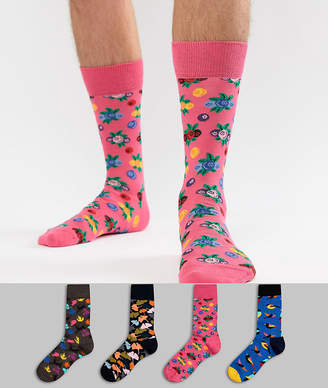 Happy Socks Socks 4 Pack Gift Set with Forest Prints