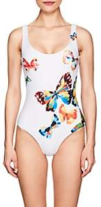 Onia WOMEN'S KELLY BUTTERFLY-PRINT ONE-PIECE SWIMSUIT-WHITE SIZE S