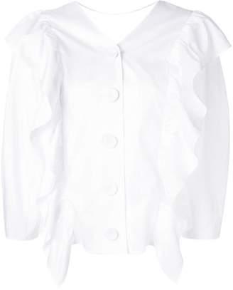 Sjyp ruffle-trim blouse