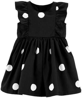 Carter's Polka Dot Ruffle Dress - Baby Girls