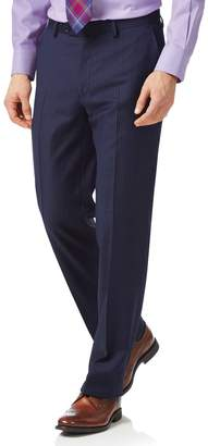 Charles Tyrwhitt Blue Classic Fit Twill Business Suit Wool Pants Size W32 L30