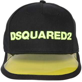 DSQUARED2 Logo Embroidered Cotton Baseball Cap