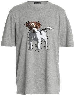Markus Lupfer Embellished Cotton-Blend Jersey T-Shirt