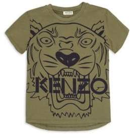 Kenzo Little Boy's& Boy's Kaki Tiger T-Shirt