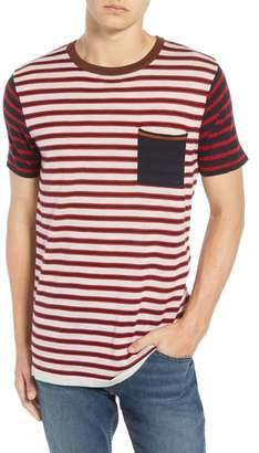 Scotch & Soda Stripe Merino Wool Pocket T-Shirt