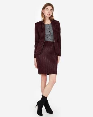 Express High Waisted Clean Striped Pencil Skirt
