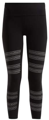 Track & Bliss - Go With The Flow Laser Cut Performance Leggings - Womens - Black