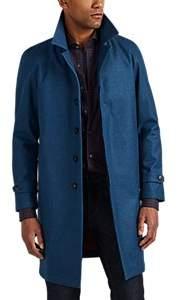 Barneys New York Men's Wool-Cashmere Topcoat - Blue