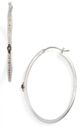 Women's Armenta Diamond Hoops $790 thestylecure.com