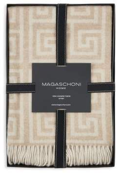 Greek Key Cashmere Throw
