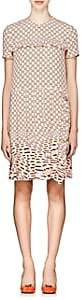 Prada Women's Geometric-Print Silk Crepe Shift Dress - Pink