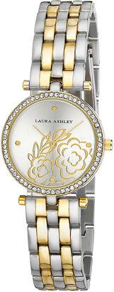 Laura Ashley Womens Two Tone Bracelet Watch-La31021ttg $395 thestylecure.com