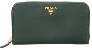 prada Prada Saffiano Lux Zip Around Wallet