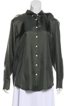 Band Of Outsiders Silk Button-Up Top w/ Tags