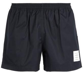 Thom Browne Cotton Twill Rugby Shorts - Mens - Navy