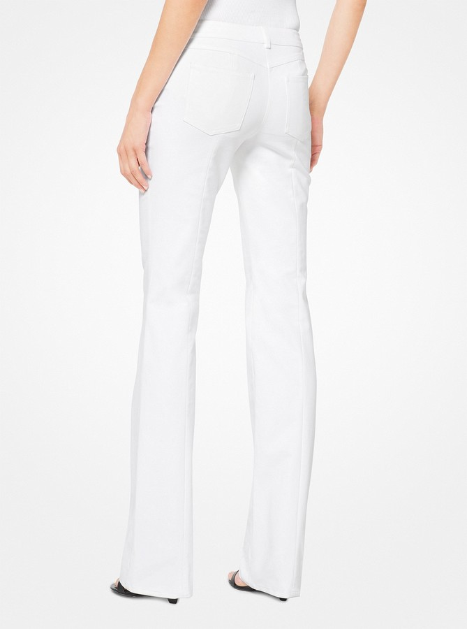 Michael Kors Collection Stretch-Cotton Broadcloth Flared Jeans