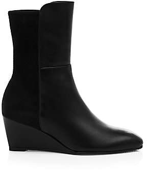 Stuart Weitzman Women's Beatrice Stretch Leather Wedge Boots