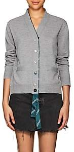 Marc Jacobs Women's Silk-Trimmed Wool Cardigan-Gray