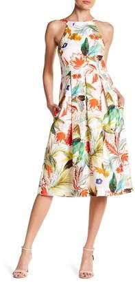 Eva Franco Mandy High Neck Textured Dress