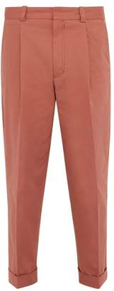 Acne Studios Pierre Turned Up Cuff Cotton Blend Chino Trousers - Mens - Orange