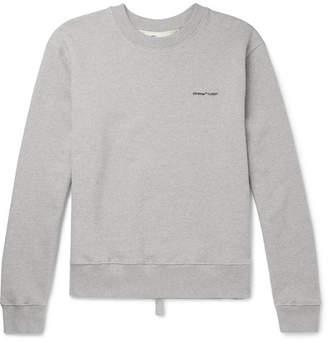 Off-White Off White Logo-Print Loopback Cotton-Jersey Sweatshirt - Men - Gray