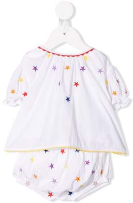 Stella McCartney star embroidered blouse and shorties set