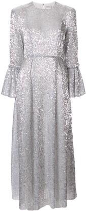 Huishan Zhang sequin embellished dress