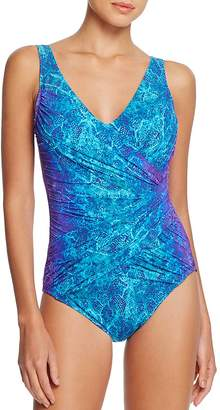 Gottex Chameleon Maillot One Piece Swimsuit $168 thestylecure.com