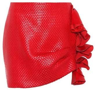 Magda Butrym Boca leather miniskirt