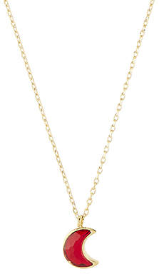 Accessorize Moon Pendant Necklace With Swarovski® Crystal