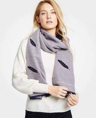 Ann Taylor Reversible Feather Scarf