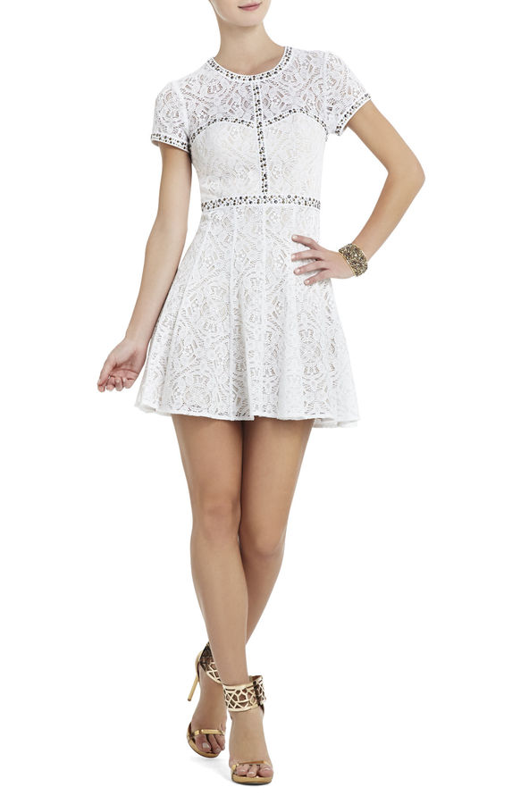 BCBGMAXAZRIA Gill Lace-Embellished Dress