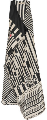 Etro - Printed Silk Maxi Dress - Black $2,710 thestylecure.com