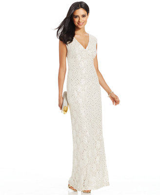 Connected Sequined Lace Gown $99 thestylecure.com