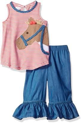 Mud Pie Baby Girls' Two Piece Pants Set Sleeveless