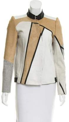 Helmut Lang Leather and Ponyhair Jacket