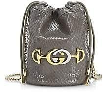 Gucci Women's Mini Zumi Python Bucket Bag