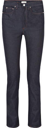 Totême High-rise Slim-leg Jeans - Dark denim