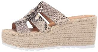 Marc Fisher Snake Espadrille Wedge