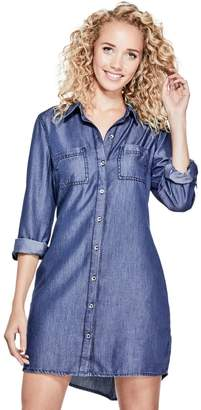 Factory Guess Women's Taryn Chambray Shirtdress